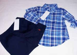 Polo Ralph Lauren Boys Infant 2pc Short Set